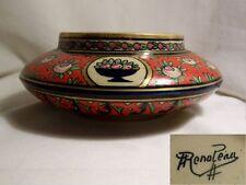 Coupe POT ancien A. RENOLEAU céramique d'Art ANGOULEME décor Marquise de Sévigné