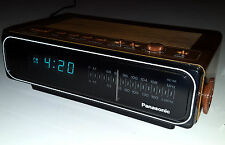 VINTAGE PANASONIC ALARM CLOCK RADIO RC-66 FLUORESCENT BLUE DIGITAL DIAL