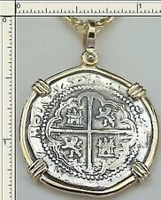 ATOCHA 2 REALE SPANISH COIN JEWELRY KEY WEST TREASURE BLACKBEARD KIDD MORGAN BAR