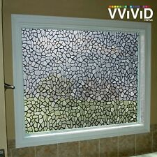 "Rough Stone Pattern Frosted Window Decor Privacy Home DIY Vinyl Film 36"" x 24"""