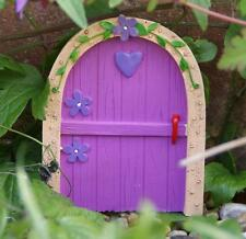 NEW SMALL PINK FAIRY DOOR GARDEN ORNAMENT TREES OR WALL FO_14624A