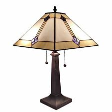 Amora Lighting Tiffany Style Mission Table Lamp Mission Table Lamp