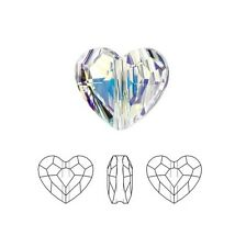 Swarovski Crystal Faceted Love Beads Heart 5741 Clear AB  8mm Package of 24