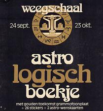 """GOUDEN TOEKOMST : WEEGSCHAAL Astrologisch Boekje (1977 FLEXI-DISC 7"""" HOLLAND)"""
