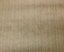 CLAREMONT SIBTON SLUDGE TAN STRIE VELVET UPHOLSTERY LINEN FABRIC BY THE YARD