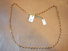 CHAINE PLAQUE OR MAILLE MEDIUM LONG 48 CM 6 G VINTAGE NEUF/NEW GOLD PLATED CHAIN