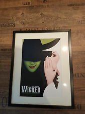 Large Wooden Framed Poster - Wicked the Musical Witches of Oz (Wizard of Oz)