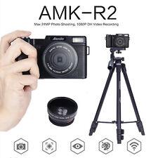 """AMKOV 3.0"""" 1080P Professional Digital Cameras DSLR Cameras+Lens+VCT-520 Tripod"""