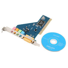 New 4 Channel 5.1 Surround 3D PCI Sound Audio Card for PC Windows XP/Vista/7 QT
