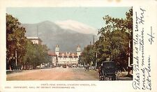 Postcard CO Colorado Springs Pike's Peak Ave Horse Buggy Vintage PC Posted 1905