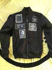 DROP DEAD CLOTHING STAY DEAD BOMBER JACKET COAT SMALL S BLACK CLOTHING UNISEX