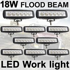 "10X 18W 6"" LED Flood Work Driving Light bar RZR Snowmobile Jeep 4WD 4X4 Honda"