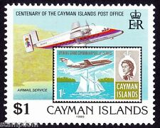 CAYMAN ISLAND 1989 $1 high value of Post Office Centenary MNH  @S4027