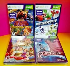 Motionsports, Hunting, Phelps, Adventure Xbox 360 4 Games (2 NEW) Require Kinect