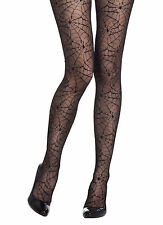 LADIES SEXY PANTYHOSE SPIDERS COBWEB HALLOWEEN TIGHTS FANCY DRESS NEW WOMENS
