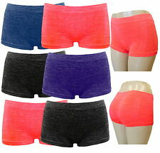 6 LADIES BOXER SHORTS MIX COLORS SEAMLESS UNDERWEAR WOMEN PANTIES BOYSHORTS