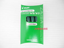 6 Refills for Pilot V5 V7 Hi-Tecpoint Ink Cartridge System Rollerball Pen, Green
