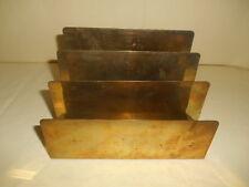 Vintage Stepped Brass Letter Holder Hollywood Regency Desk Accessory
