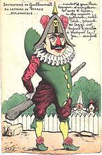 Kaiser Wilhelm II, franz. politische Kartikatur, sign. Orens, Auflage 100 St.,