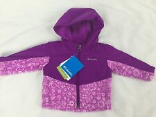 Columbia Infant Girl's Steens Mt Overlay Hoodie Jacket Size 3-6 Months NWT