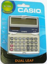 SL-100L CASIO Solar Compact Calculator with Folding Hard Case great for travel