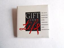 Vintage Gift for Life Gift Industry Fighting AIDS Cause Pinback