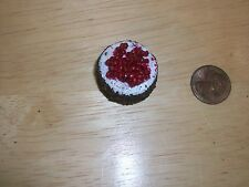 Re Ment Barbie size Chocolate Cherry Cake (A) Doll House Diarama Sweet Shop OOAK