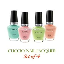 CUCCIO Colour Nail Lacquer    SET OF 4 Colors Polish 13ml /0.43 oz Kit Lot