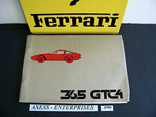 1971 1972 Ferrari 365 GTC 4 GTC4 Owner Spare Parts Book Catalogue N.59/71 # J182