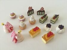 "Re-ment Lot of 14 from ""Special Cakes"" 1:6  Barbie sized kitchen food minis"
