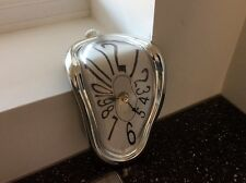 Working Clock Salvador Dali Repro Melting Pocket Watch Battery Retro Shabby Chic