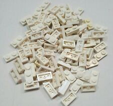 Lotto lot 100 lego plate 3023 1x2 white bianco