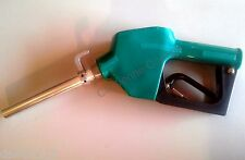 "Diesel FUEL Commercial NOZZLE AUTO SHUTOFF 3/4"" Farm Automatic Green spout wHook"