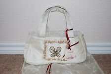 New Monica Famora Sea Shell Beaded Purse Handbag Bag White