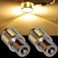 2pcs Bright 1156 BA15S Tail Turn 21 LED 5730 SMD Bulb Light Warm White 12-30V
