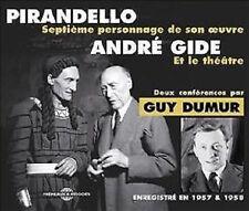 1332 PIRANDELLO ANDRE GIDE DEUX CONFERENCES PAR GUY DUMUR ENREGISTRE 1957 & 1958