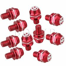 10pcs Custom Red Smiling Face License Plate Frame Bolts Motorcycle Tag Fastener
