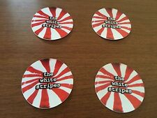 THE WHITE STRIPES Official  Lot 4 Stickers CLASSIC PEPPERMINT Logo Third Man/V2