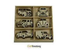 30 Wooden Shapes Classic Cars Auto Craft Embellishments Card Toppers