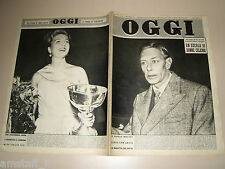 OGGI=1951/40=GEORGE VI=INDIA EDWARDS=WALTER REDER MARZABOTTO=WANDA OSIRIS=