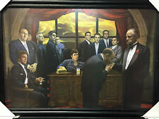 MAFIA MOVIE COLLAGE FRAMED PICTURE GODFATHER SOPRANOS SCARFACE GOODFELLAS 24X36