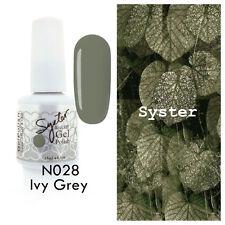 SYSTER 15ml Nail Art Soak Off Color UV Lamp Gel Polish N028 - Ivy Grey