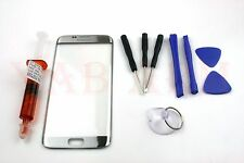 Samsung Galaxy S7 Edge Front Screen Glass Lens Replacement G935 Silver with Kit