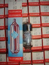 1 X EF80 TELEFUNKEN NOS/NIB TUBES. WITH # SIEMENS CODES CRYOTREATED