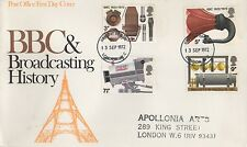 BBC AND BROADCASTING HISTORY LONDON 1972 FIRST DAY COVER FDC