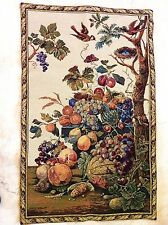NWT Lg Tuscan Italian Fruit Tree Bird Botanical Wall Hanging Italy Tapestry