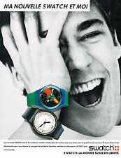 PUBLICITE ADVERTISING   1986   SWATCH   nouvelle collection    montres