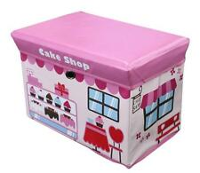 Global Decor Toy Box CAKE SHOP Kid Decor Children's Storage Container/Stool PINK