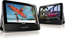 "PHILIPS PD9016 9"" Dual  LCD Screen Portable DVD Player PD9016/37 Car Boat"