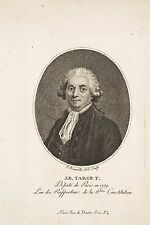 Gravure XVIII° Portrait Ovale JB TARGET Député Paris Révolution, F Bonneville